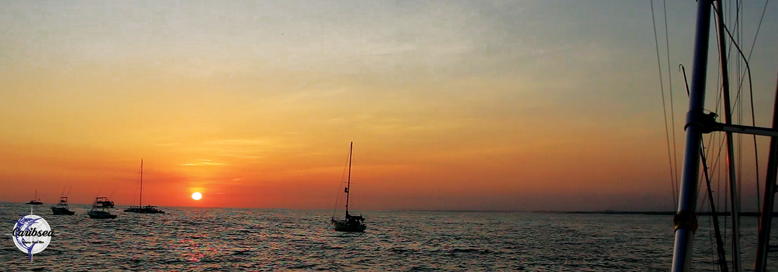 Caribsea sportfishing charter: sunset from the deck