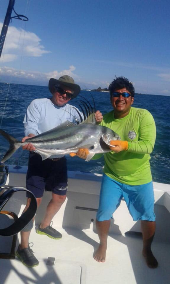 Quepos Inshore fishing, Costa Rica: caught-roosterfish