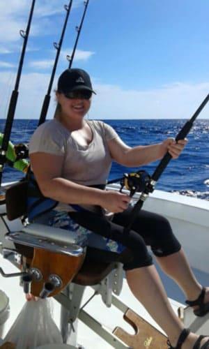 Quepos Offshore Fishing: fishing seat