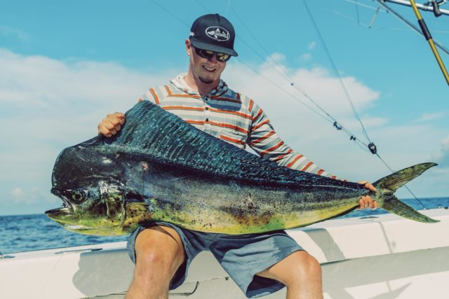 Quepos offers world-class fishermen and experienced anglers an excellent opportunity to catch different fish, including mahi mahi.  #caribseasportfishing #sportfishing #flyfishing #mahimahi